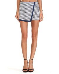 Blaque Label - Blue Mini Skirt - Lyst