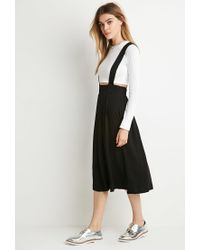 Forever 21 | Black Pleated Overall Skirt | Lyst