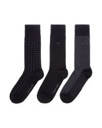 Calvin Klein | Black Ck 3 Pack Spotted Socks for Men | Lyst