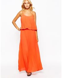 Fashion Union | Blue Pleated Layer Maxi Dress | Lyst