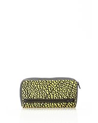 Alexander Wang - Yellow Fumo Continental Wallet In Contrast Tip Citron - Lyst