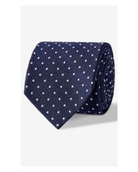 Express - Blue Dot Print Narrow Silk Blend Tie for Men - Lyst
