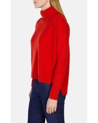 Karen Millen - Red Ltd Edition Cashmere Roll-neck Jumper - Lyst
