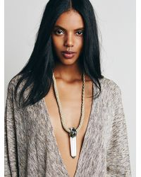 Free People | Brown Adina Mills Womens Lost Quartz Pendant | Lyst