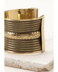 Forever 21 - Metallic Etched Statement Cuff - Lyst