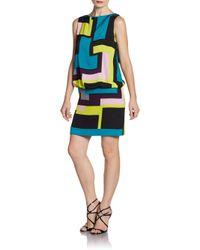 MILLY   Multicolor Gianna Silk Dress   Lyst
