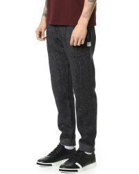 Steven Alan - Black Tiger Fleece Sweatpants for Men - Lyst