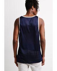 Forever 21 - Blue Mesh Contrast-pocket Tank for Men - Lyst
