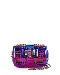 Christian Louboutin - Purple Sweet Charity Scarabe Spike Bag - Lyst