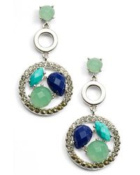 Judith Jack | Blue 'alluring Oasis' Drop Earrings | Lyst