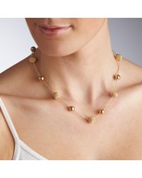 John Lewis - Metallic Translucent Flower Statement Necklace - Lyst