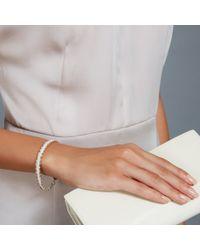 Astley Clarke - White Silver Rock N Roll Rose-Gold Nugget Bracelet - For Women - Lyst