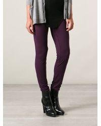 Ann Demeulemeester Blanche - Purple 'siene' Leggings - Lyst