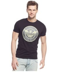 Armani Jeans | Black Logo Graphic T-shirt for Men | Lyst