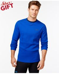 Under Armour | Blue Amplify Long-sleeve Thermal Shirt for Men | Lyst