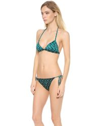 Marc By Marc Jacobs | Green Aurora Triangle Bikini Top | Lyst