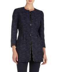 Nina Ricci - Blue Tweed Fitted Jacket - Lyst