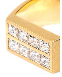 DINA KAMAL DK01 | Yellow Diamond & Gold Flat-Plate Pinky Ring | Lyst