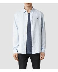 AllSaints | Blue Reaper Shirt for Men | Lyst