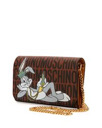 Moschino - Brown Bugs Bunny Shoulder Bag - Lyst