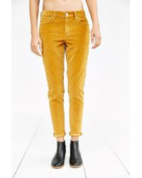 BDG | Orange Corduroy Slim-fit Pant | Lyst