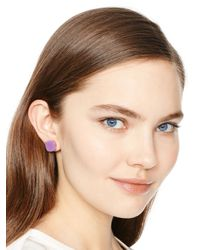 kate spade new york | Purple Kate Spade Earrings Small Square Studs | Lyst