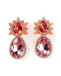 Shourouk - Orange 'galaxy' Clip-on Earrings - Lyst