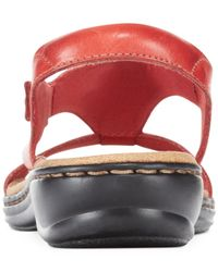 Clarks | Red Collection Women's Leisa Foliage Flat Sandals | Lyst