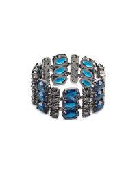 Ralph Lauren | Blue Lauren 3-Row Faceted Stone Bracelet | Lyst