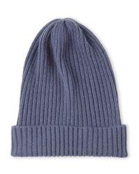 Portolano - Blue Knit Cashmere Skully for Men - Lyst