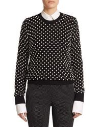 Michael Kors | Black Pearlescent Hand-embroidered Sweater | Lyst