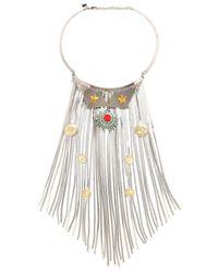 Iosselliani - Metallic Full Metal Jewels Necklace - Lyst