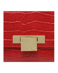 Kurt Geiger - Red Croc Annie Cross Body Bag - Lyst