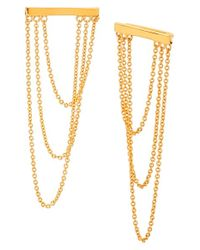 Gorjana | Metallic 'nina' Chain Drop Earrings | Lyst