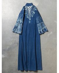 Free People - Blue Vintage Denim Printed Caftan - Lyst