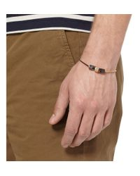 Lanvin   Metallic Gold and Ruthenium Plated Bracelet for Men   Lyst