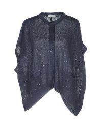 Brunello Cucinelli - Blue Sweater - Lyst
