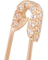 Ileana Makri | Multicolor Safety Pin 18-karat Rose Gold Diamond Earring | Lyst