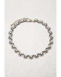 Forever 21 | Metallic Clustered Rhinestone Statement Necklace | Lyst