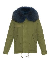 Mr & Mrs Italy | Green Fur-lined Canvas Parka | Lyst