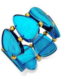 Style & Co. | Style&co. Gold-tone Blue Resin Bracelet | Lyst