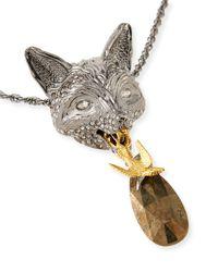Alexis Bittar - Metallic Elements Fox Pendant Necklace - Lyst