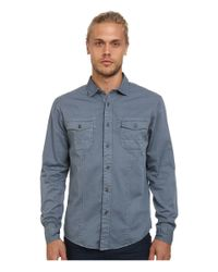 Mavi Jeans | Blue Folded Sleeve Shirt for Men | Lyst