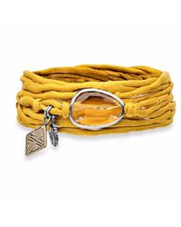 Platadepalo | Trend Yellow Bracelet With Crystal | Lyst