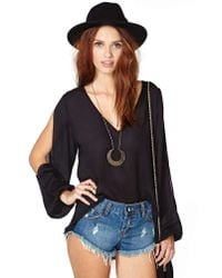 Nasty Gal - Dream Haze Top Black - Lyst