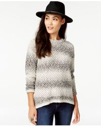 G.H. Bass & Co. | Gray Ombre-stripe Sweater | Lyst