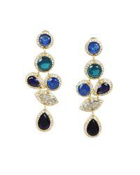 BCBGMAXAZRIA - Blue Cascade Stone Earrings - Lyst