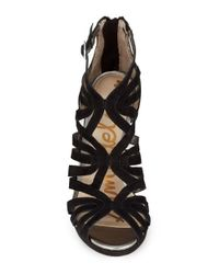 Sam Edelman | Black Eve Caged Heels | Lyst