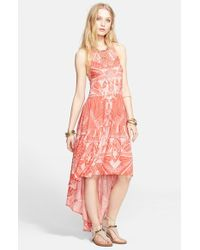 Free People - Pink 'La Mar' Print Dress - Lyst