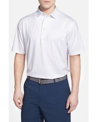 Peter Millar | White 'twilight Pin Dot' Moisture Wicking Stretch Jersey Polo for Men | Lyst